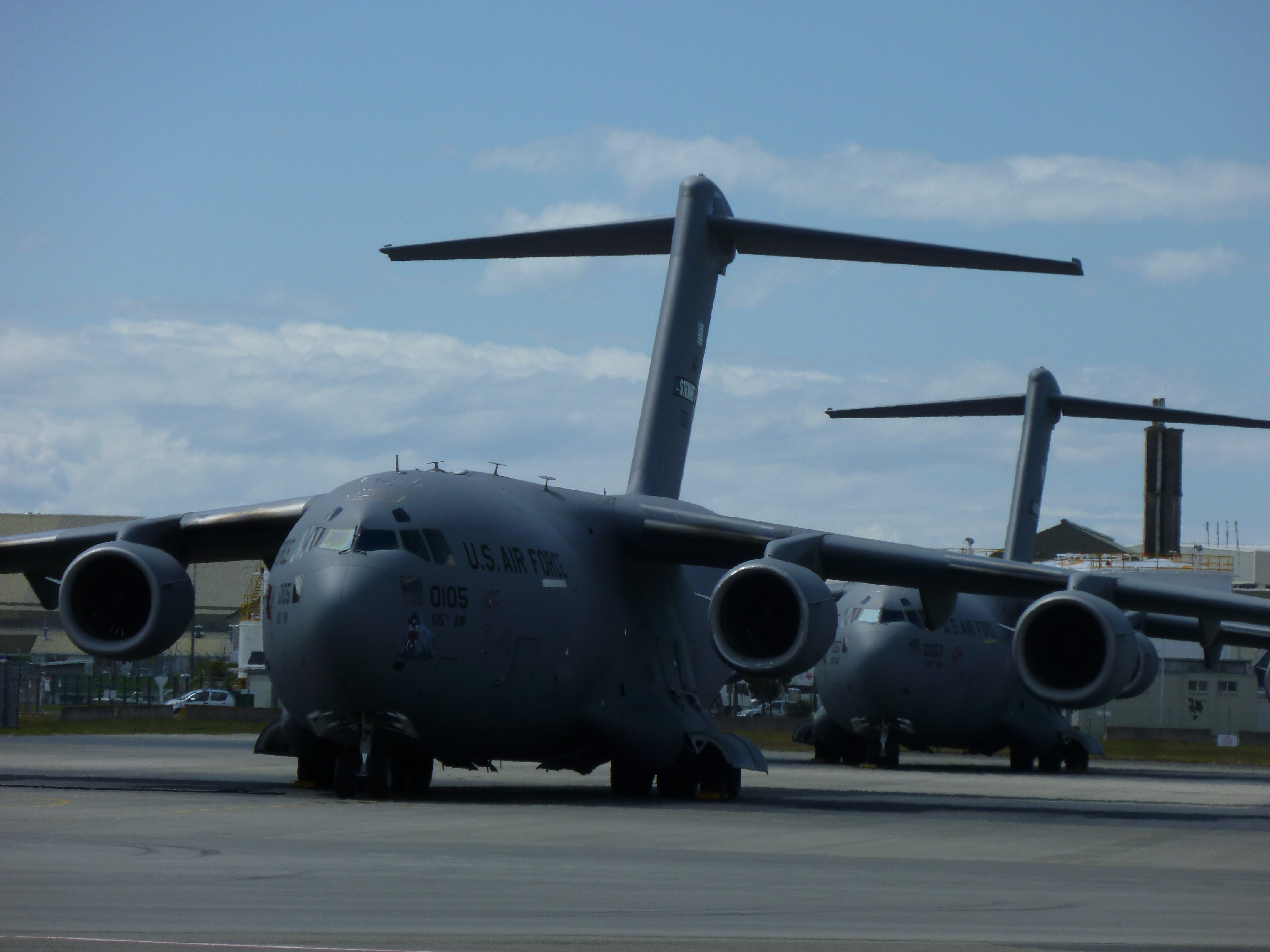 US Troop Transports at the Christchurch International Airport. (Photo by Snoopman)