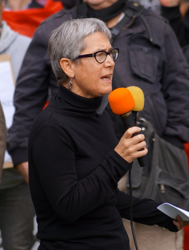 Kelsey in Stereo: The activist scholar uses to mics here in an attempt to be doubly heard by the patriarchal  mainstream media, well-known among grass-roots organizations for their perennially selective hearing.