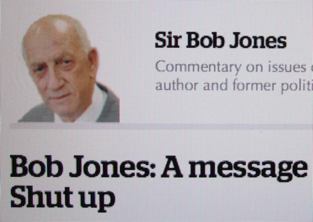 Orwellian Newspeak: Jones is essentially saying Free Protest is Peace Disturbance.