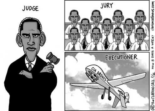 One Strike Your Out: Human rights lawyers argue that drone strike deaths are extra-judicial killings.