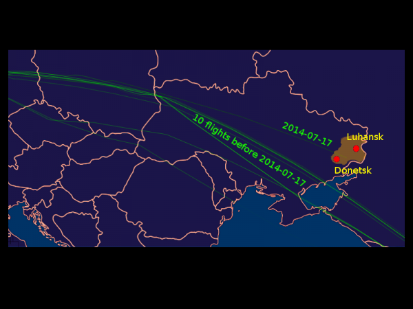 Change of Plan? MH17 flight path appears to have been changed by Kiev air traffic controllers.