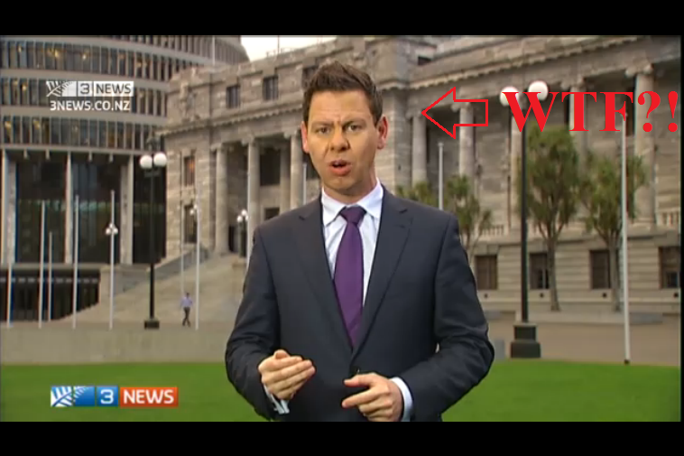 The Colour Purple: Gower and the maintsream media harassed Labour party leader David Cunliffe for wearing a red scarf, a symbolic association to the colour of his party, while subtly associating himself with the PM's tie of choice for stately occasions.