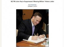 'Nice Guy' Key: NZ's Prime minister drafts of the smugly-toned 'Missing Million' voters letter in Cabinet Diary .