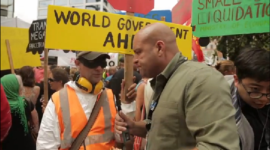 Kebabo-journalism: Radio Hauraki's Leigh Hart joined in the loony white media woosies' protestor-mowing mission .