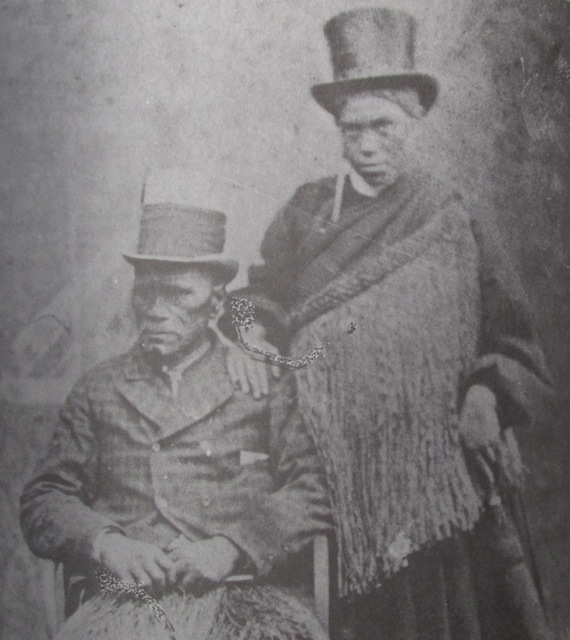 King Tawhiao and his wife, Poihire.