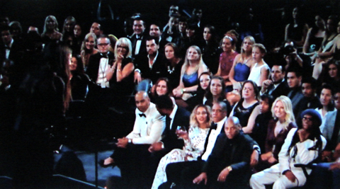 ... and the Grammy audience realizes the Queen Bee has more brains than the entire USA America music industry.