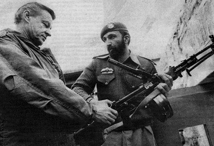CHANGE YOU CAN BELIEVE IN: After arming and training the Mujahideen in modes of terrorism in 1979, giving foreign policy 'advice' in Pakistan in 1980 (see picture), in a covert strategy to antagonize the Russians to invade Afghanistan, Zbigniew Brzezinski later became Obama's foreign policy advisor.