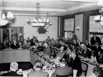Fascist Formation: Inaugural Meeting, Bilderberg Hotel May 29 to 31, 1954, Oosterbeek, near Arnhem (Netherlands)