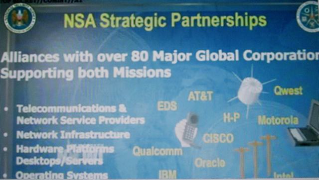 Totalitarian State: NSA boasts its corporate partners in a secret power-point slide
