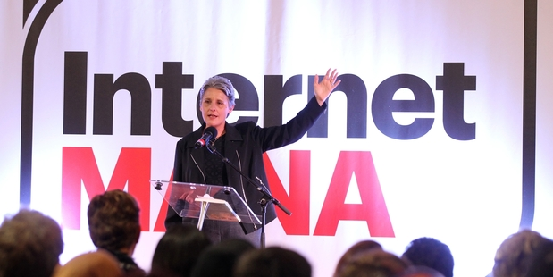 On the Road: Laila Harré talking to a crowd of 400 people in Hastings where Dotcom was not the main event and Internet Mana were upfront about the differences between the passionate candidates.