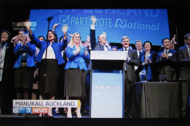 Feeling Popular: The incumbent National Party enjoy a high moment amid a scandal that quickly took on a life of its own.