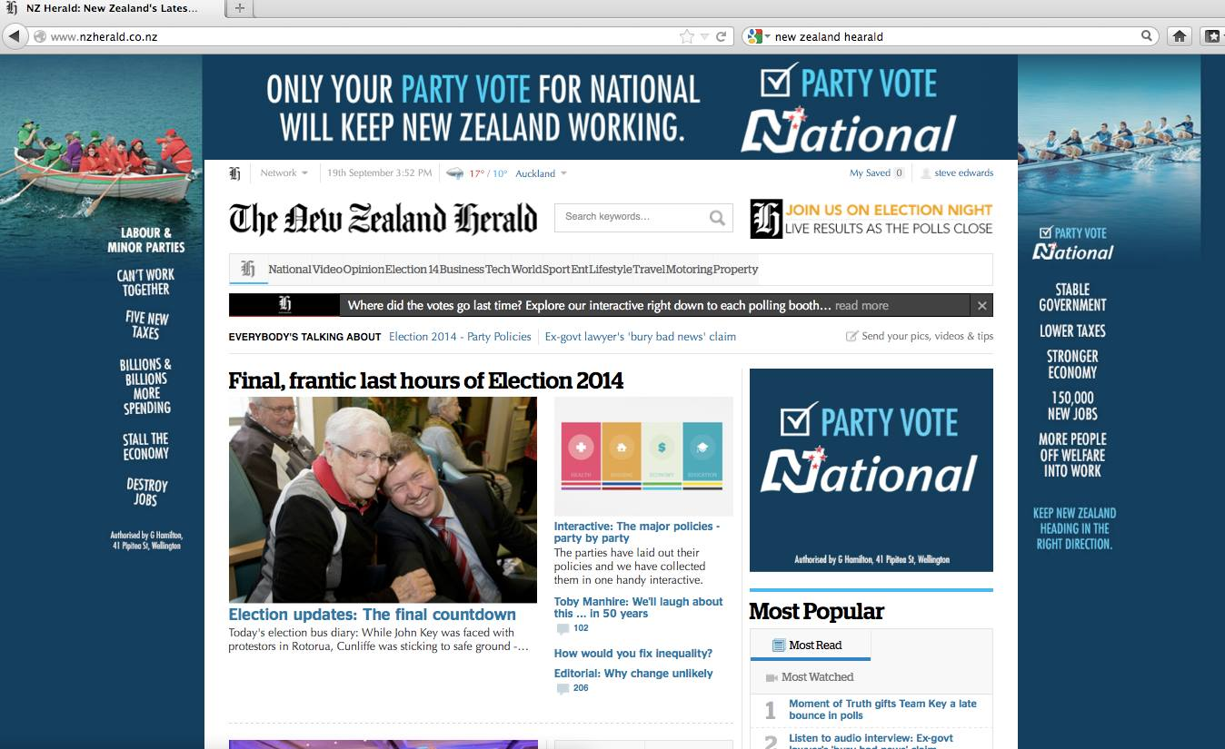 Tapping into the Party Line: A prominent talkback radio listener detected a subtle right-wing tone at work in The New Zealand Herald's news coverage.