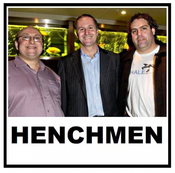 A Picture Tells Tales of 10,000 Blogs: John Key flanked by his right-wing blogger attack dogs, David Farrar (left) and Cameron Slater (right).
