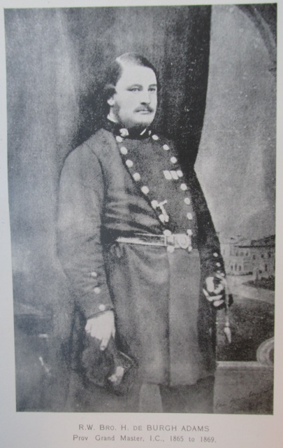 Bro. Major Henry De Burgh Adams, Purveyor to the Armed Forces, founded five strategically lodges during the NZ Wars.