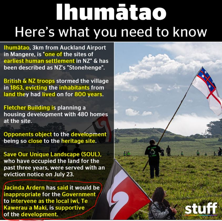 Image result for 1835 flag ihumatao